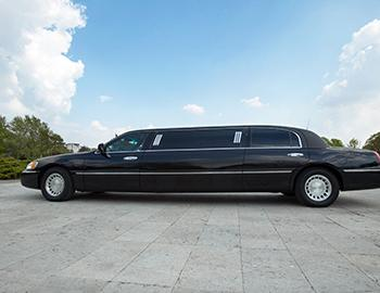 Limo outside on a sunny day