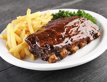 BBQ Ribs and French Fries