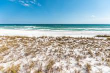 miramar beach florida dunes with white sand and turquoise waters