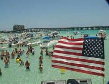 Destin FL Crab Island Memorial Day